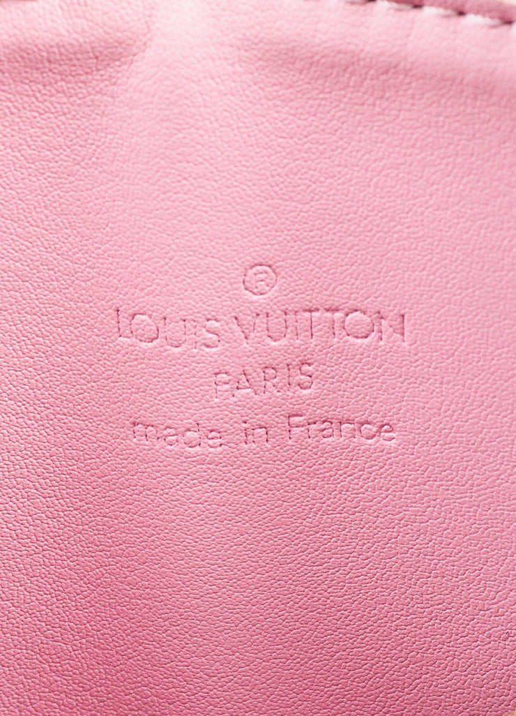 "Louis Vuitton Baby Pink Vernis Leather Embossed ""Mott"" Crossbody Bag Brand"