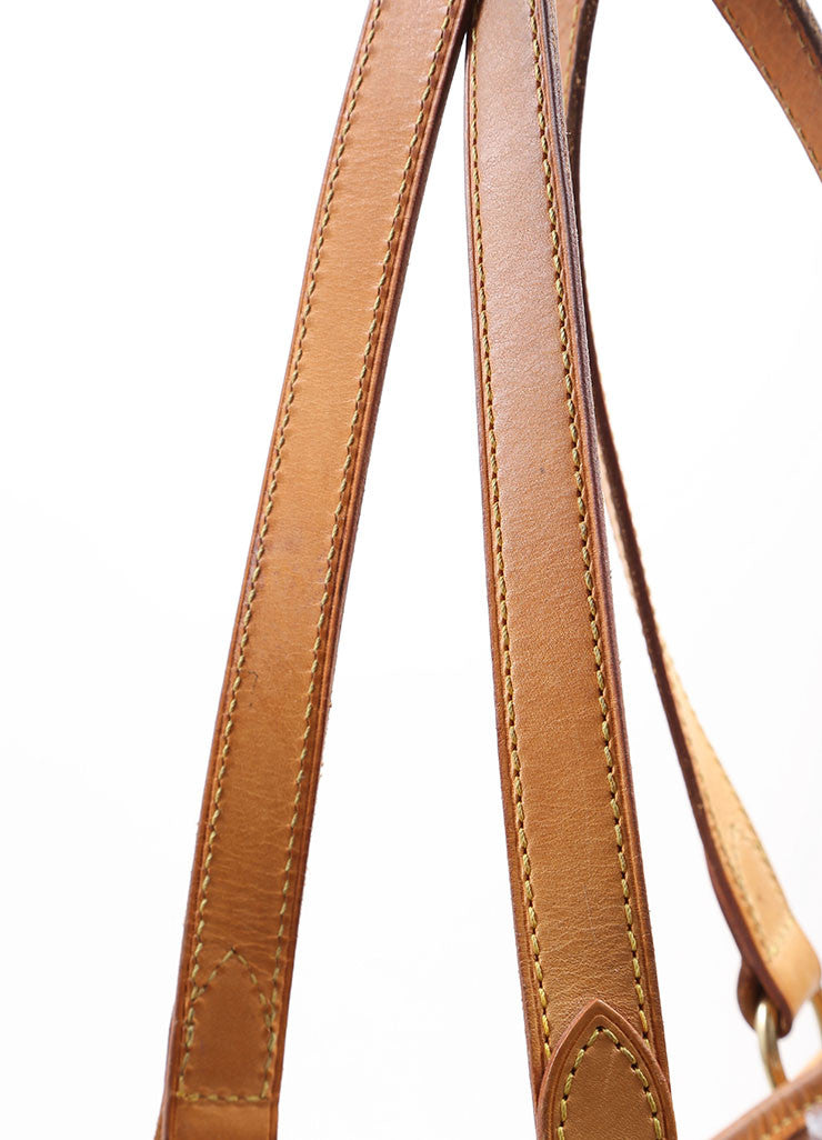 Louis Vuitton Brown and Tan Coated Canvas Monogram Tote Bag Detail 3