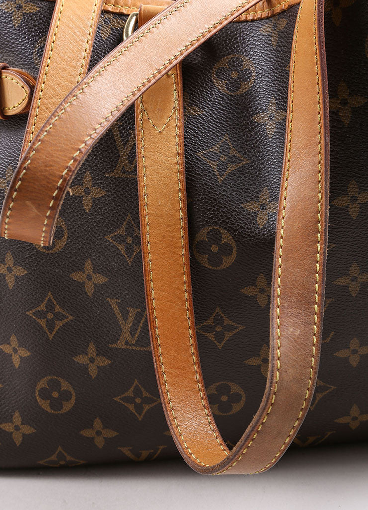 Louis Vuitton Brown and Tan Coated Canvas Monogram Tote Bag Detail 2