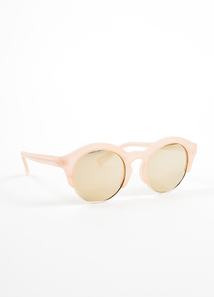 "Self Portrait x Le Specs Pink and Gold Mirrored Retro ""Edition Five"" Sunglasses Sideview"