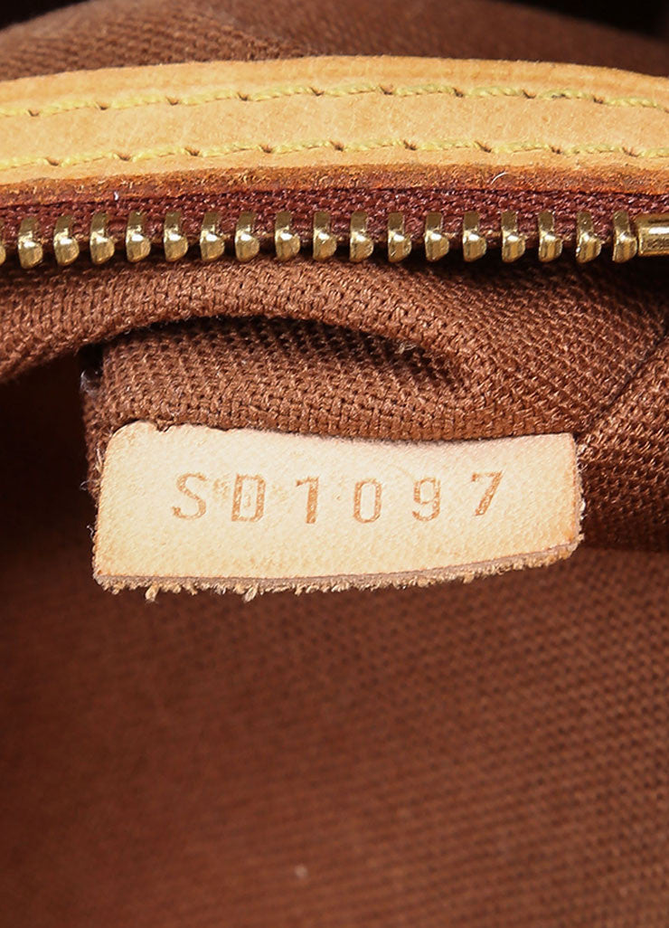 Louis Vuitton Brown and Tan Coated Canvas Monogram Tote Bag Date Code