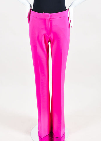 Hot Pink VICTORIA Victoria Beckham Wool Flare Leg Trouser Pants Front 2