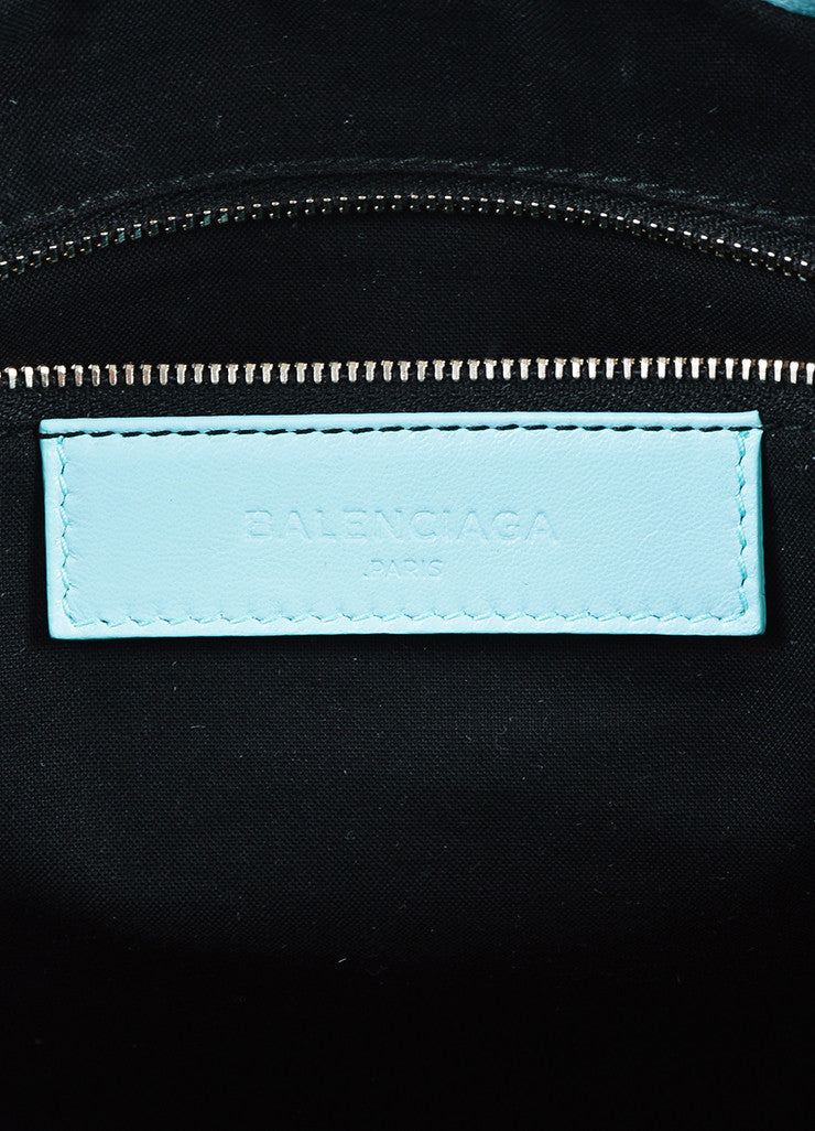 "Balenciaga Baby Blue Chevre ""Classic Metallic Edge City"" Bag Brand"