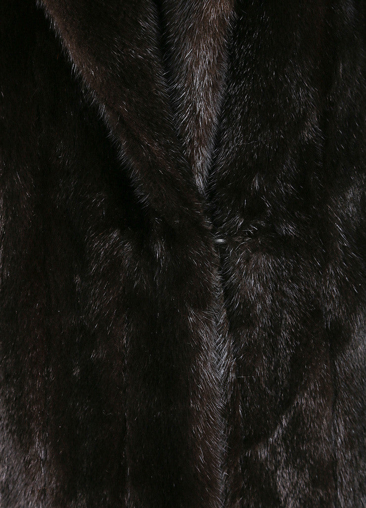 Blackglama Dark Brown Mink Long Sleeve Full Length Coat Detail