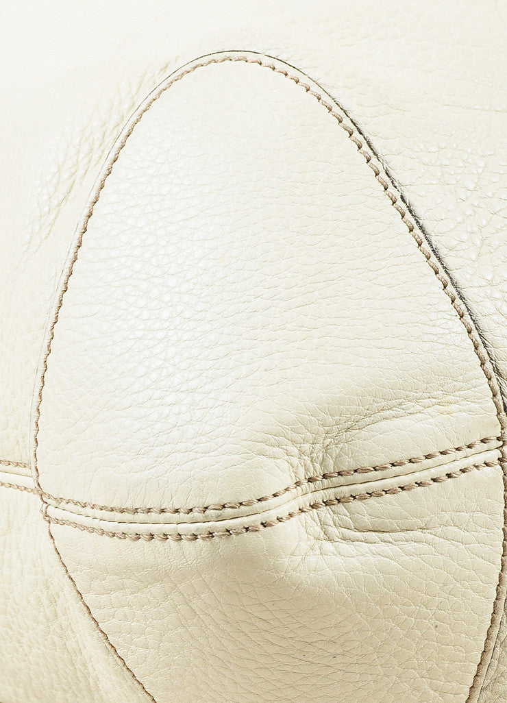 "Gucci ""Mystic White"" Pebbled ""Soho Leather Chain Hobo"" Bag Detail 2"