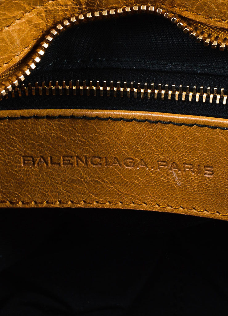"Balenciaga Light Brown Leather ""Giant 12 Gold City"" Bag Brand"