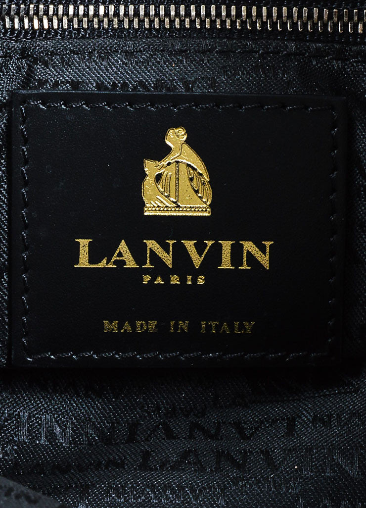 Eggplant Lanvin Leather Quilted 'Amalia' Chain Strap Ribbon Tote Bag Brand