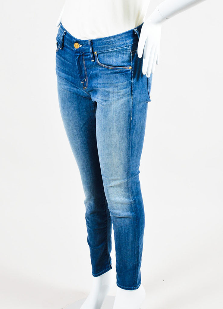 "Blue Mother Denim ""Leaving Paradise"" Faded ""The Looker Crop"" Jeans Sideview"