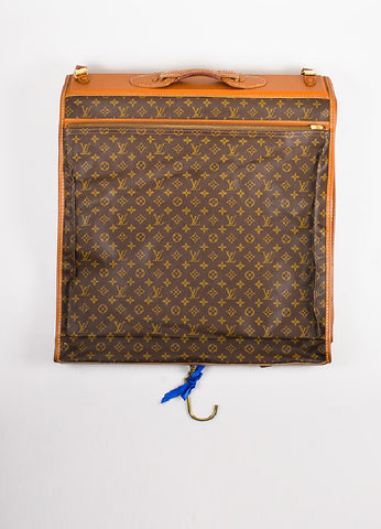 Louis Vuitton The French Luggage Co. Brown Canvas Leather Garment Bag Backview