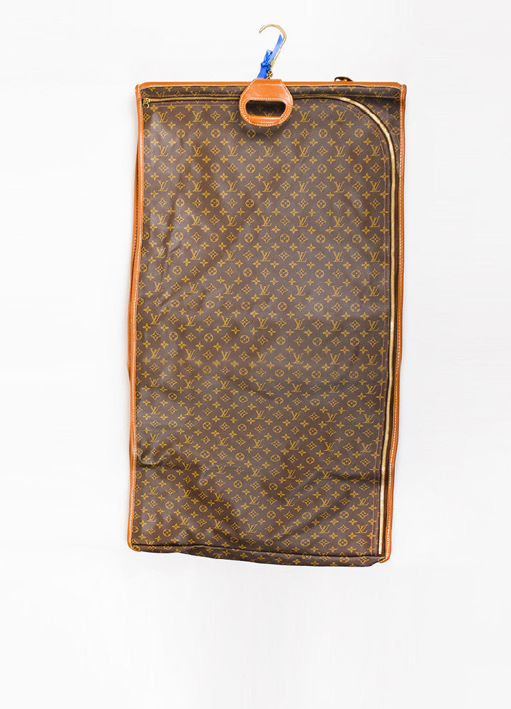Louis Vuitton The French Luggage Co. Brown Canvas Leather Garment Bag Full Length