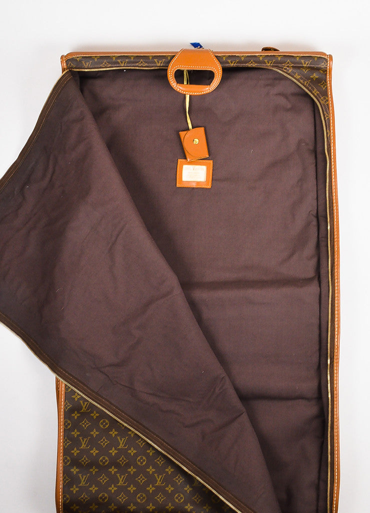Louis Vuitton The French Luggage Co. Brown Canvas Leather Garment Bag