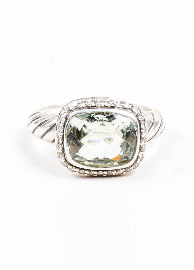 "Sterling Silver, Prasiolite, and Diamond David Yurman ""Noblesse"" Ring Frontview"
