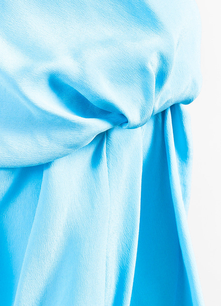 "Roksanda Sky Blue Silk Crepe Bell Sleeve ""Ophelia"" Midi Dress Detail"
