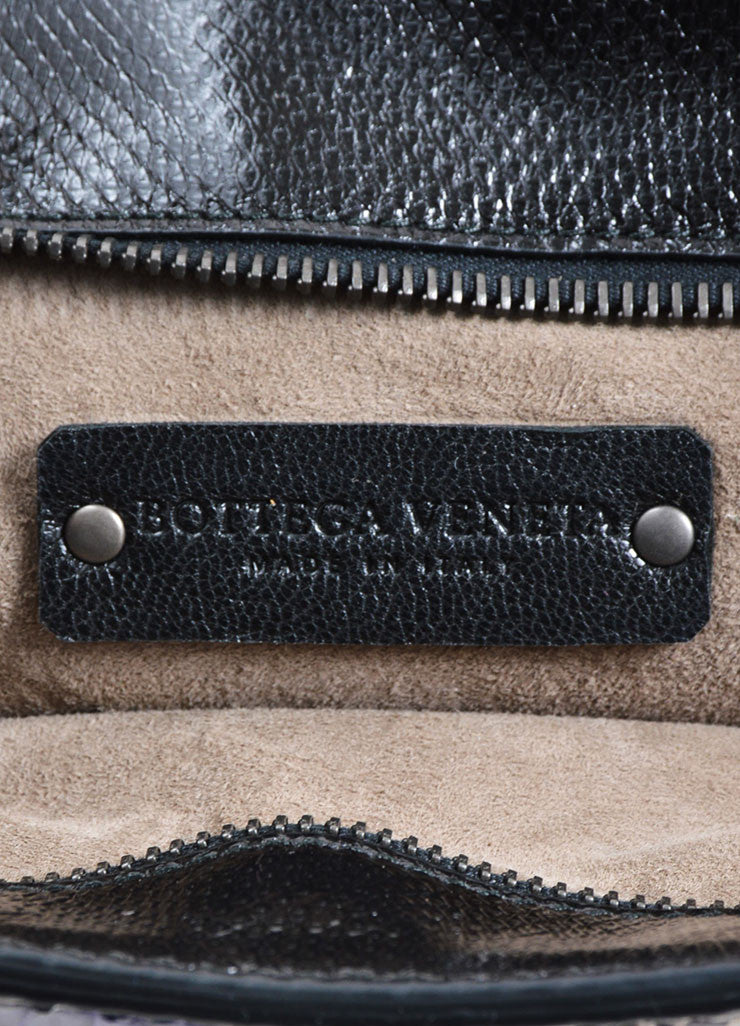 Black and Multicolor Bottega Veneta Leather Snake Trim Clutch Bag Brand