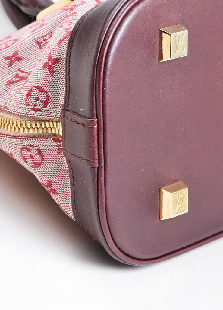 "Pink Louis Vuitton Canvas ""Alma Horizontal"" Zip Satchel Detail"