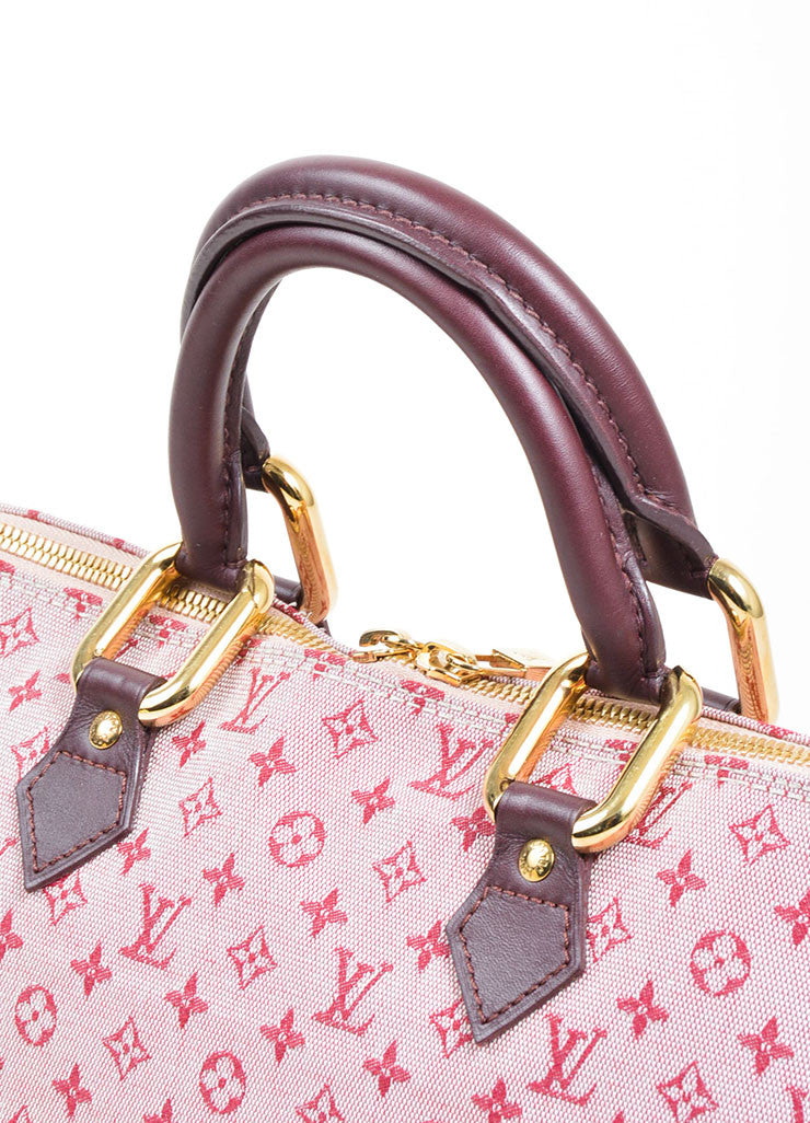 "Pink Louis Vuitton Canvas ""Alma Horizontal"" Zip Satchel Detail 2"