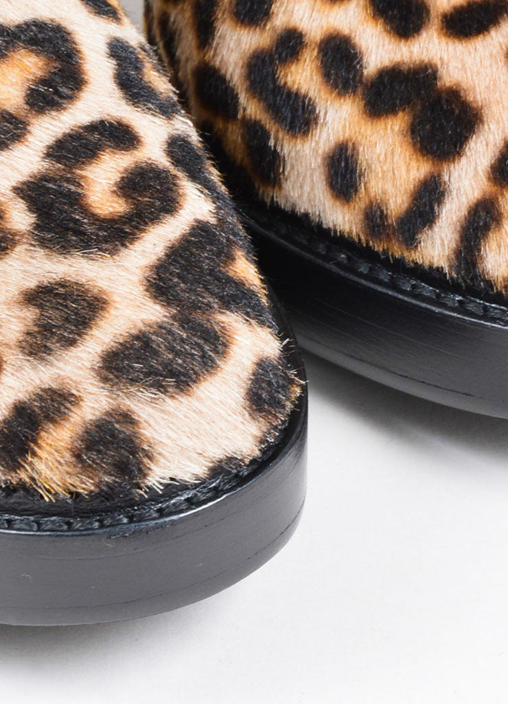 "Leopard Burberry Prorsum Pony Hair Suede Fringe ""Nadie"" Booties Detail"