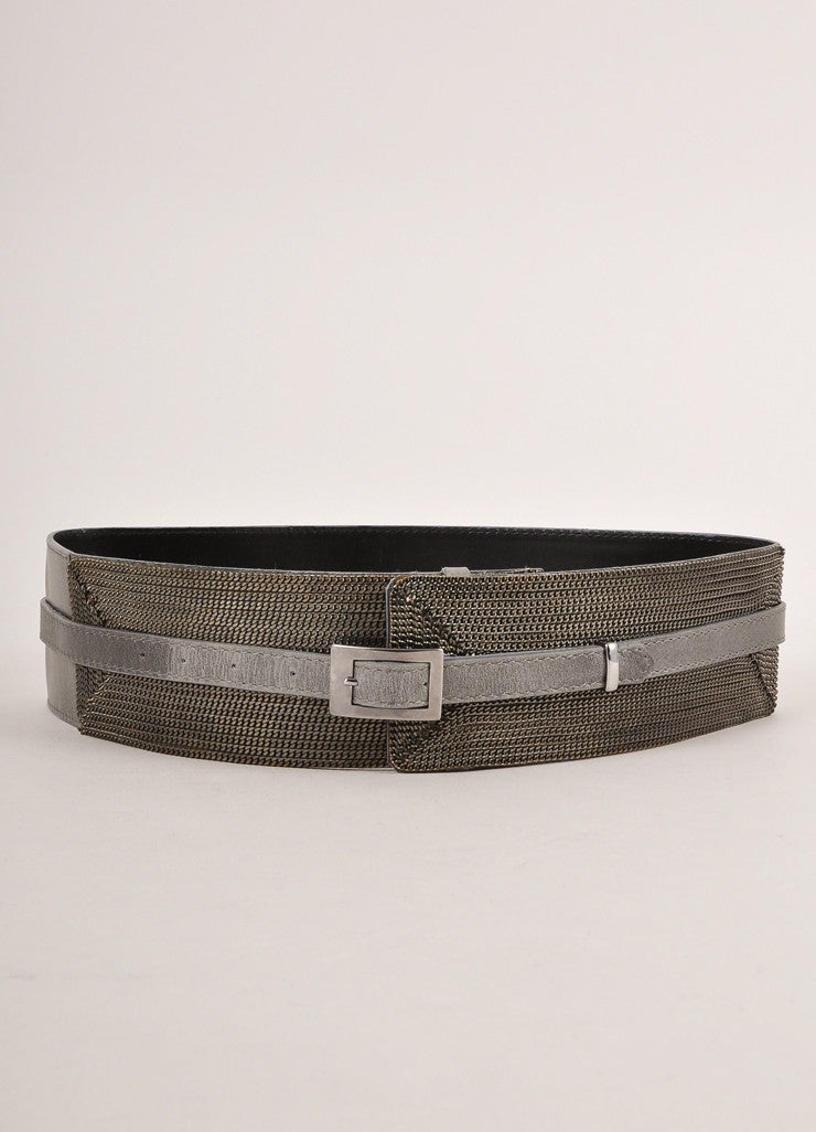 Sportmax Grey Chain Embellished Belt Frontview