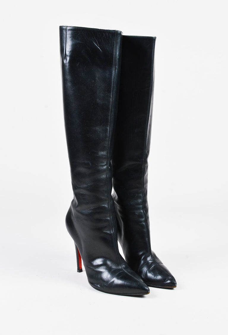 christian louboutin knee high boots