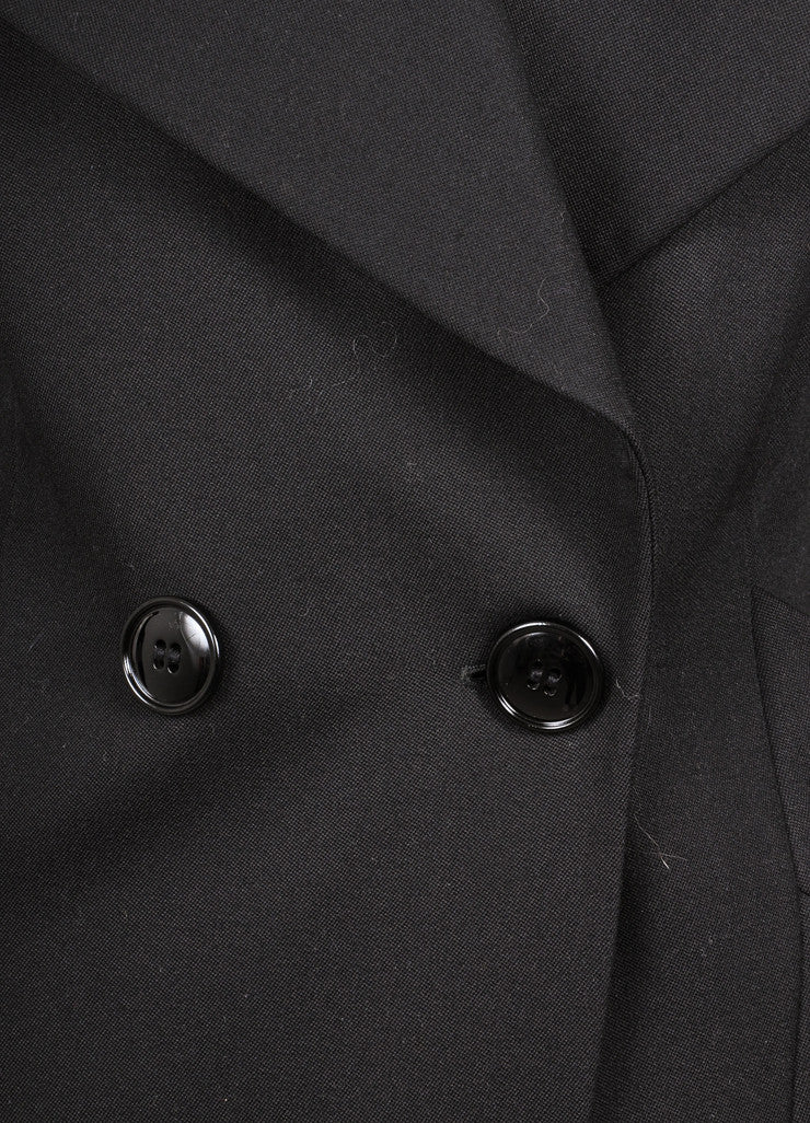 Black Wool Double Breasted Coat