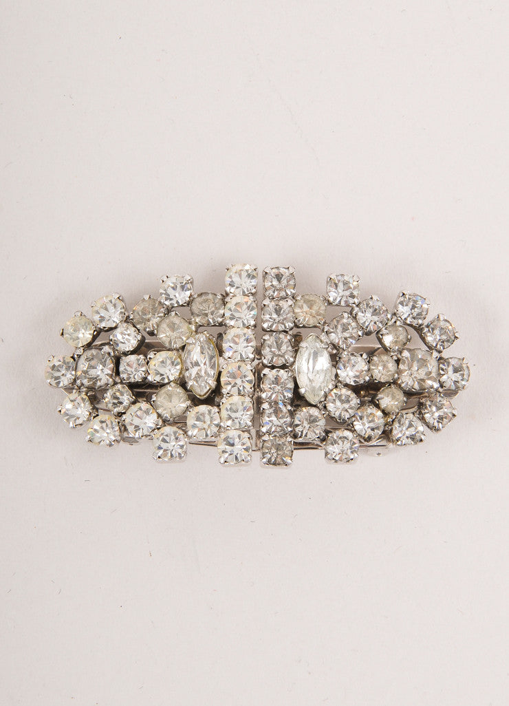 Rhinestone Two Piece Pin