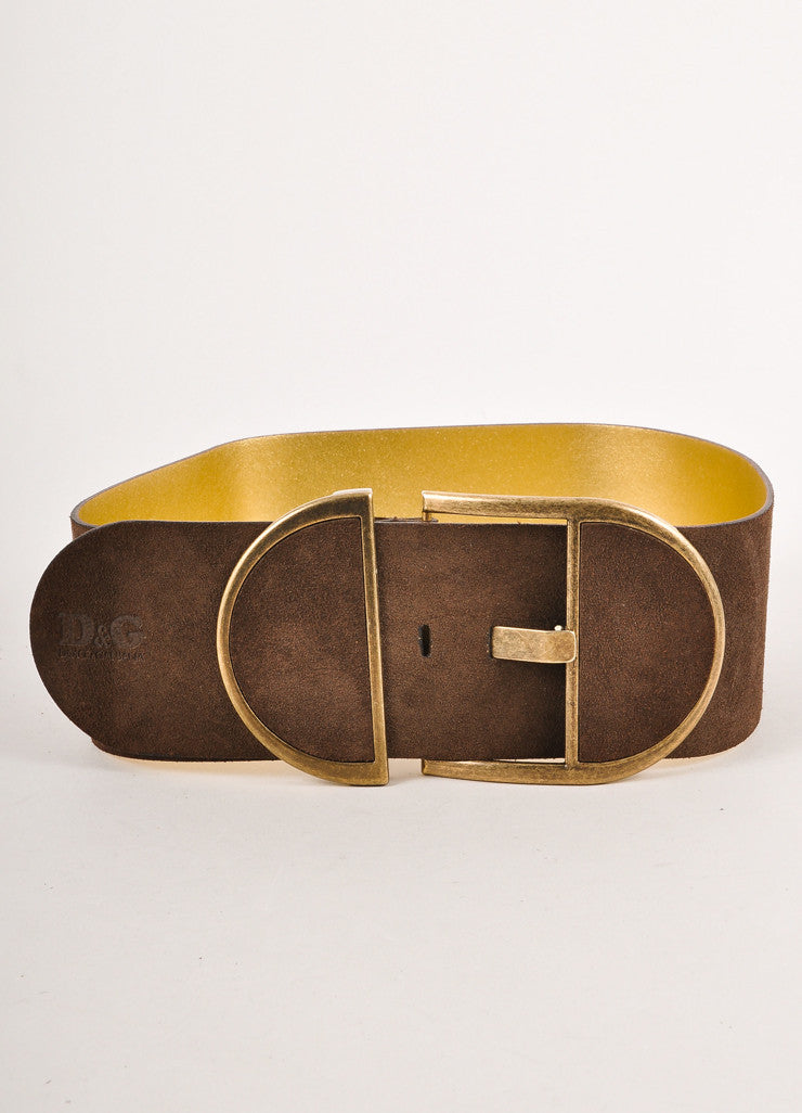 Brown Dolce & Gabanna Suede Wide Belt