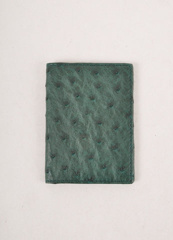 Forest Green Swift Ostrich Leather Cardholder