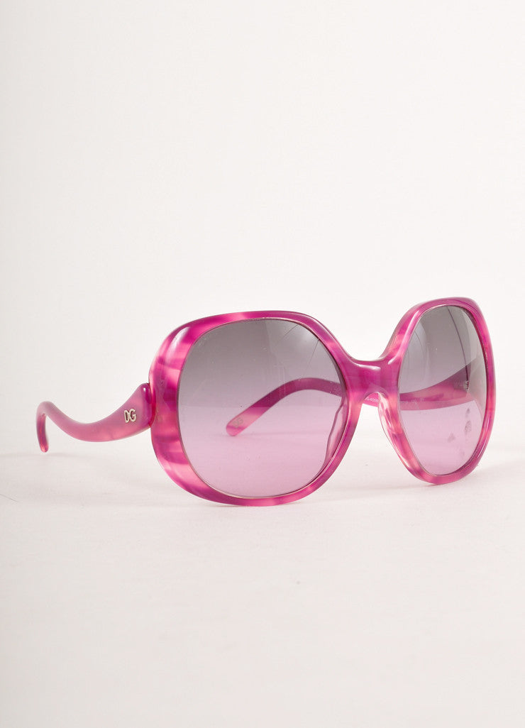 "Purple Oversized ""DG"" Sunglasses"