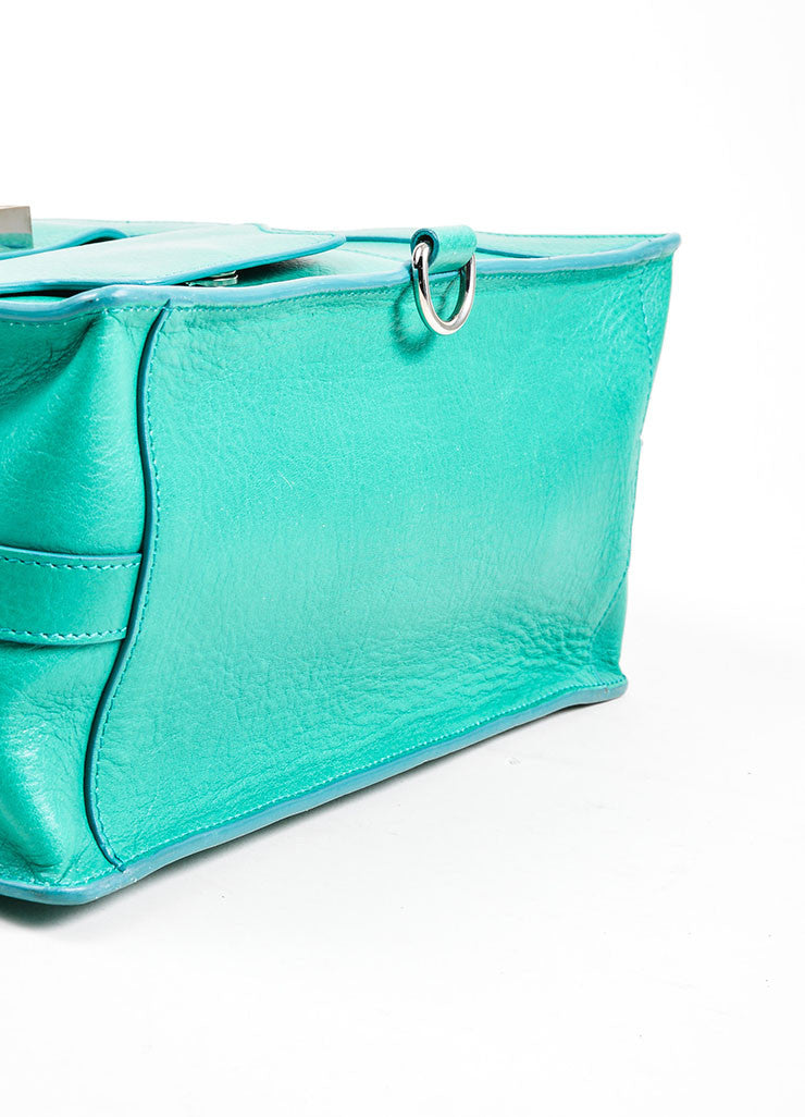 "Kelly Green Proenza Schouler Grain Leather Top Handle ""PS11"" Tote Bag Bottom View"