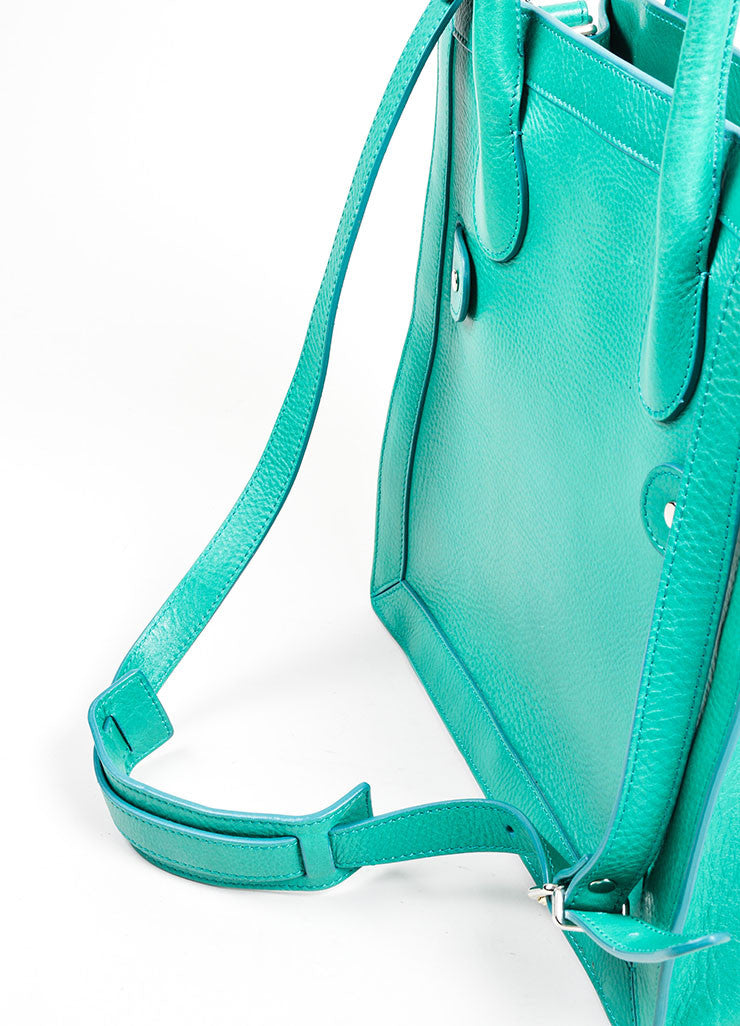 "Kelly Green Proenza Schouler Grain Leather Top Handle ""PS11"" Tote Bag Detail 2"