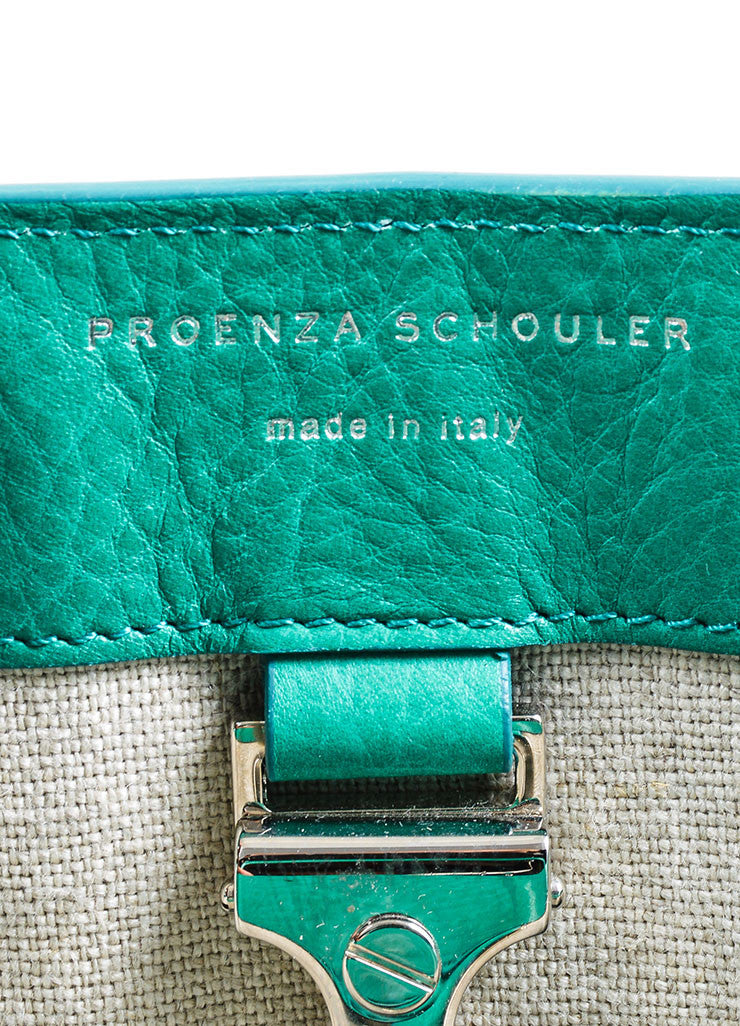 "Kelly Green Proenza Schouler Grain Leather Top Handle ""PS11"" Tote Bag Brand"