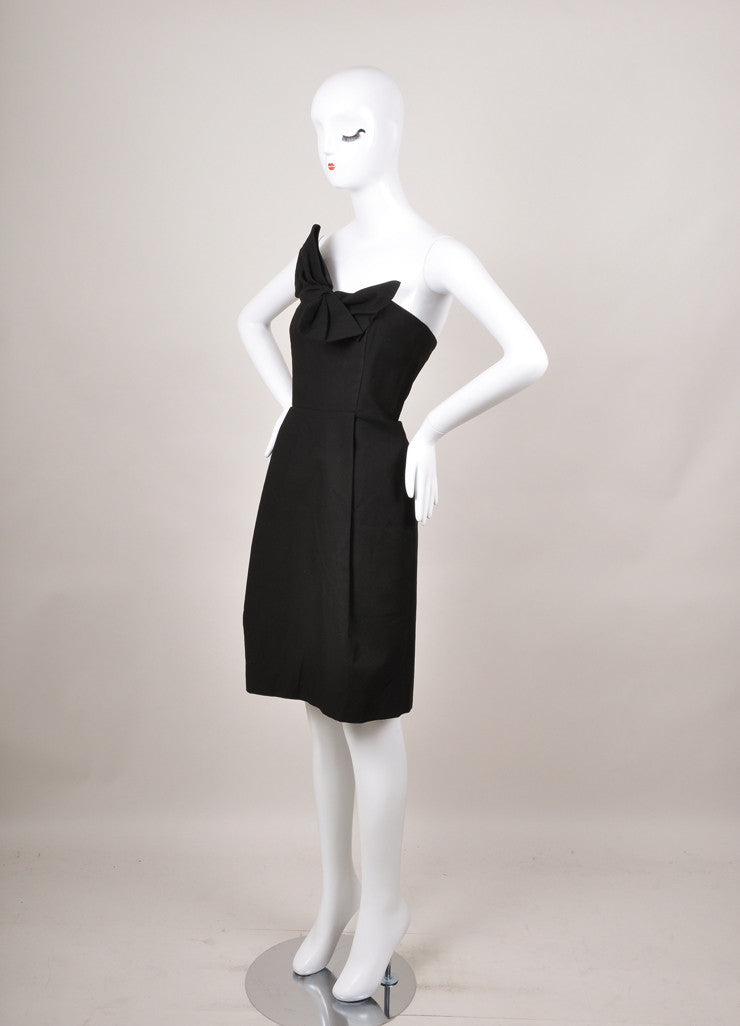 New With Tags Black Strapless Bow Cotton Dress