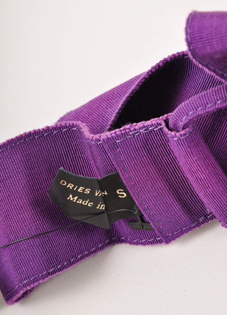Purple Grosgrain Ribbon Belt