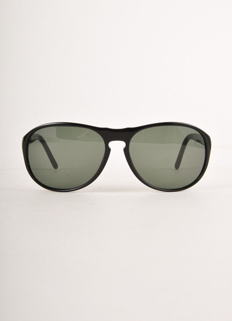 "Black Simple Round Frame ""7010"" Sunglasses"