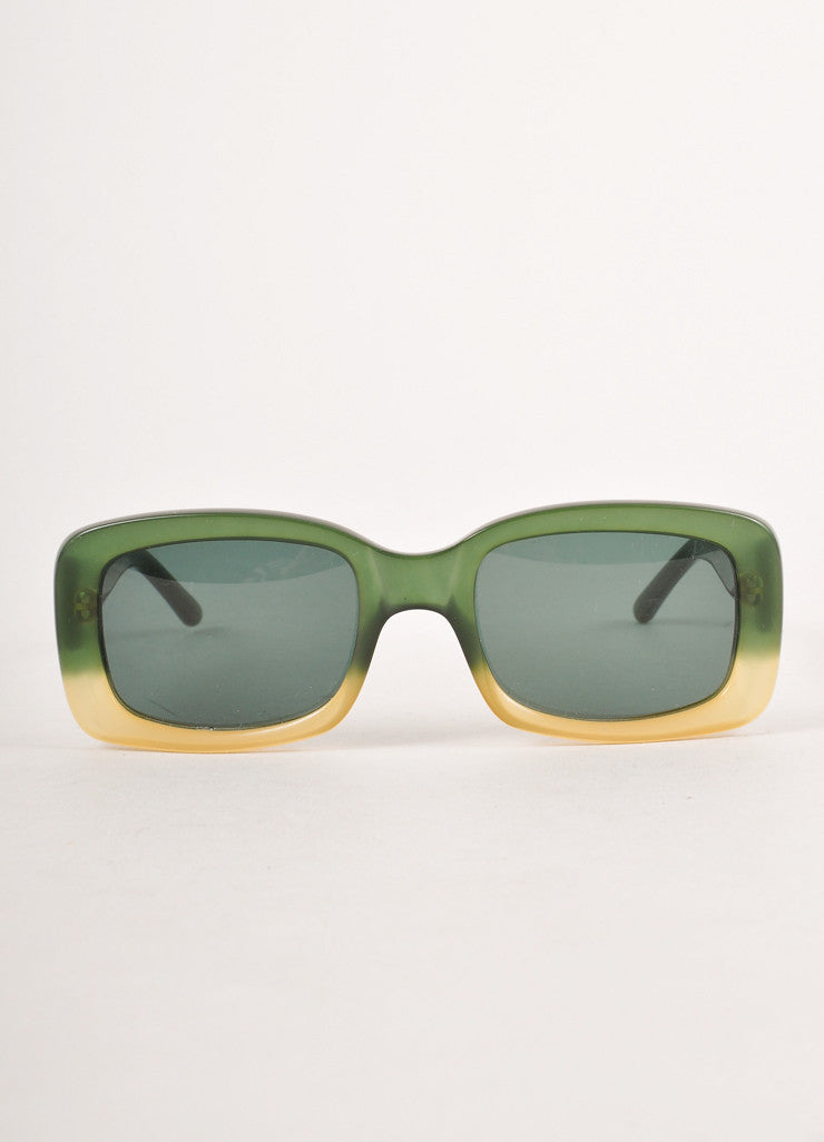 "Green and Yellow Square Frame ""GG"" Sunglasses"