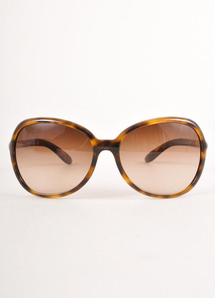 Brown and Gold Tortoise Shell Sunglasses