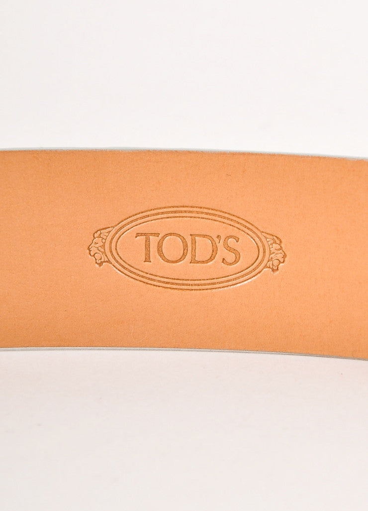 "Teal Leather ""T"" Belt"