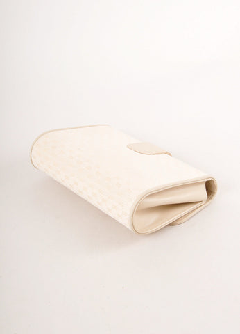 "Cream ""GG"" Monogram Canvas Front Flap Clutch Bag"