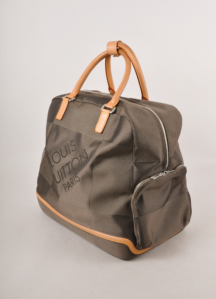 Brown Damier Geant Canvas Sac Bowling Large Travel Bag