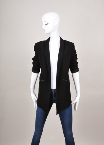 New With Tags Black Wool Blend Jacket