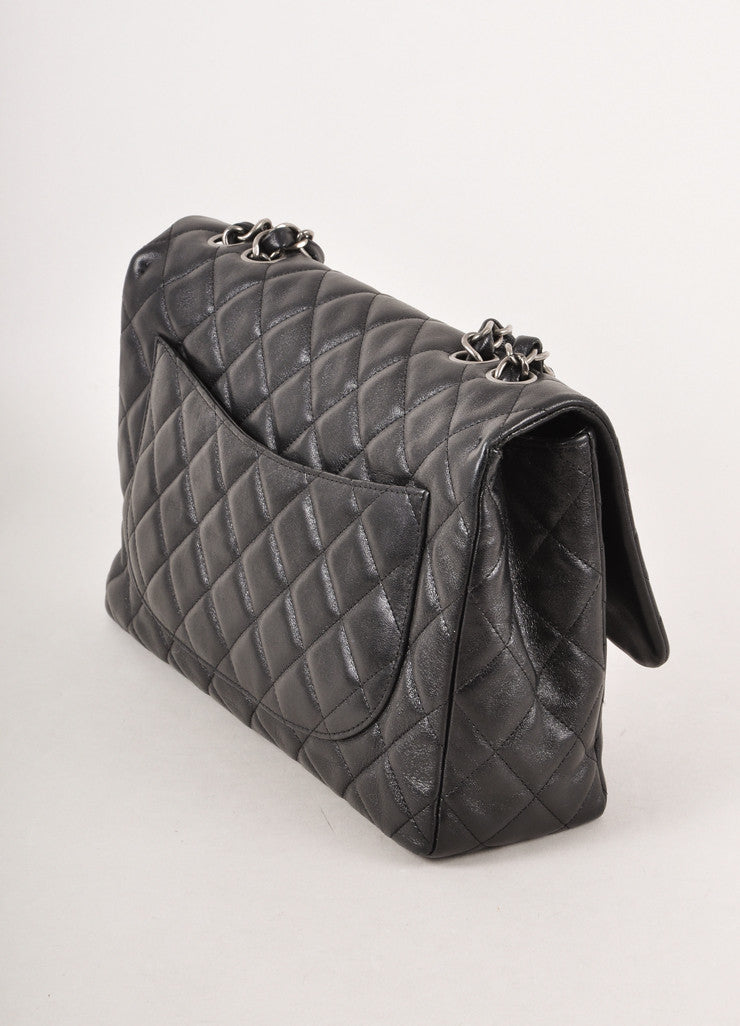 Classic 2.55 Reissue Black Quilted Lambskin Chain Strap Shoulder Bag