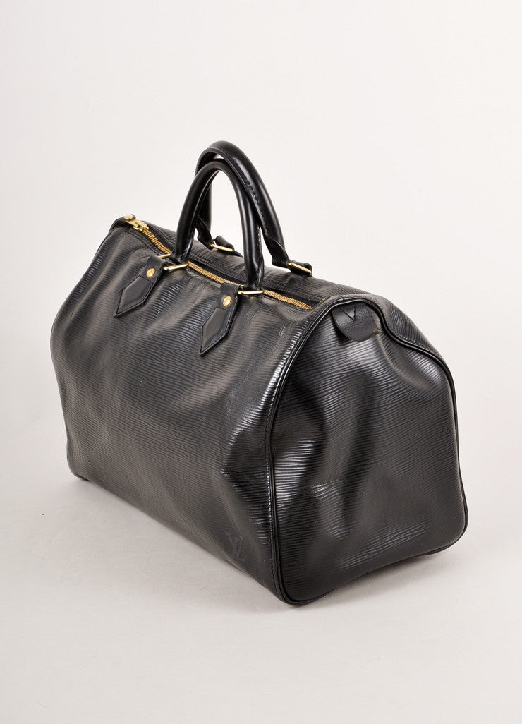 Black Epi Leather Speedy Handbag