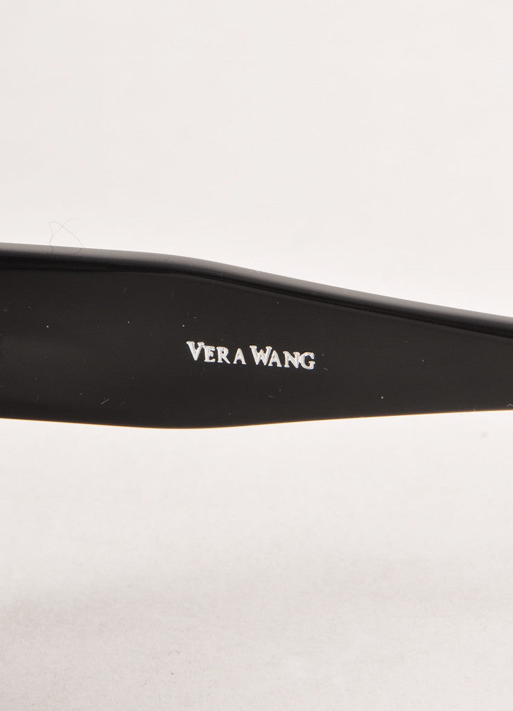 "Black Vera Wang ""Calypso"" Geometric Stud Embellishment Sunglasses"