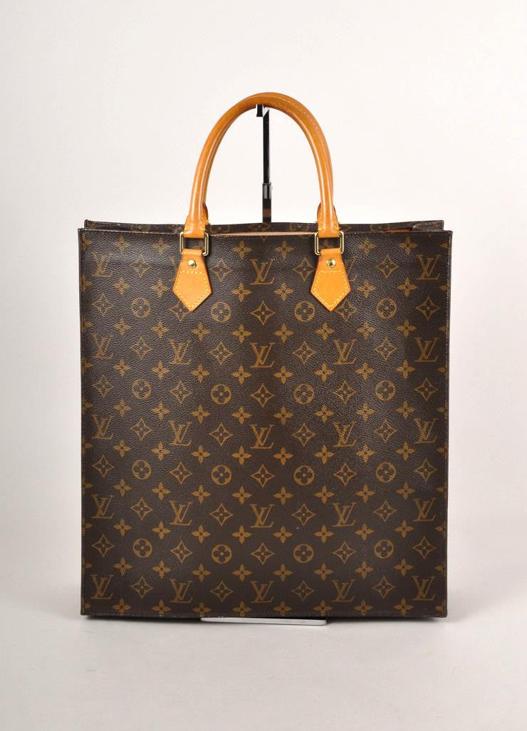 Monogram Canvas Sac Plat Tote Bag