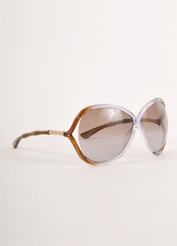 "Brown and Grey Bamboo Accent ""Simone"" Sunglasses"