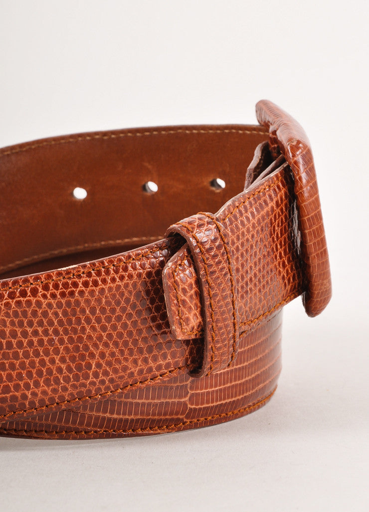 Brown Lizard Leather Belt