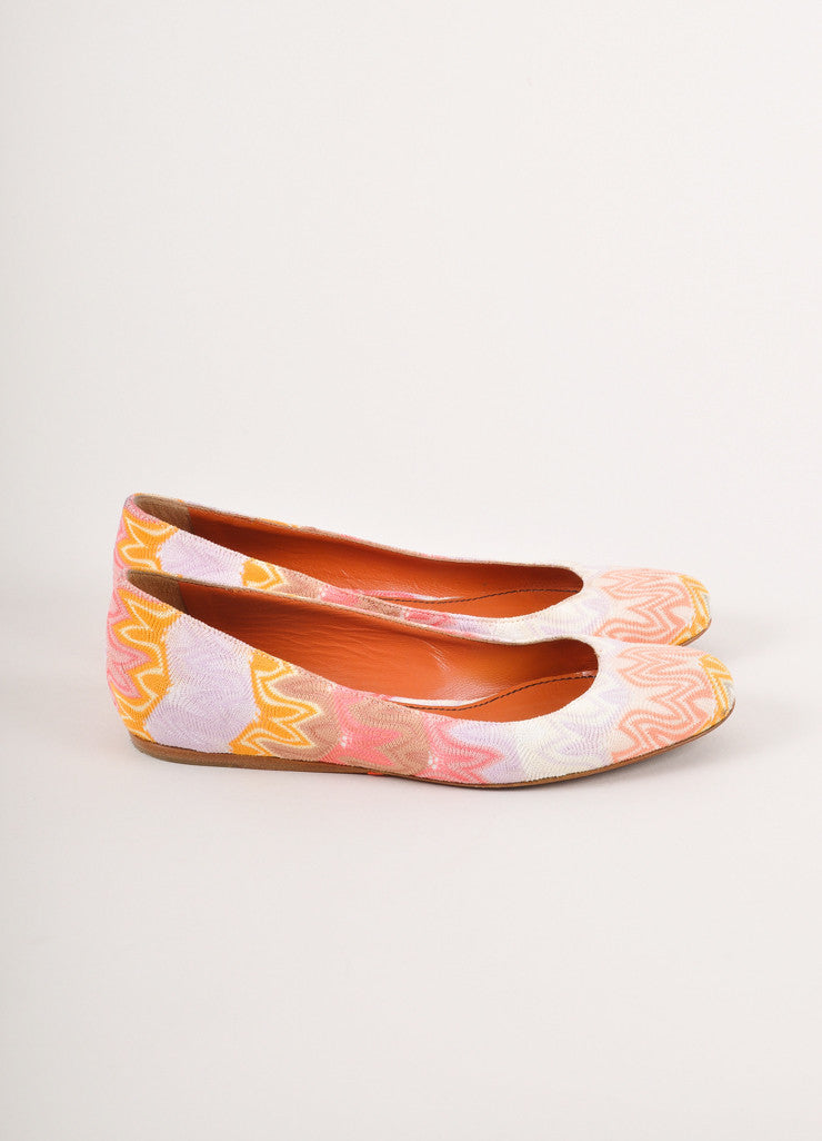 Peach, Lavender and Multicolor Knit Ballet Flats