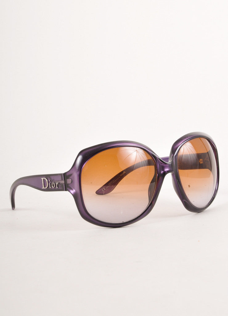 Purple and Brown Tinted Lens Large Sunglasses
