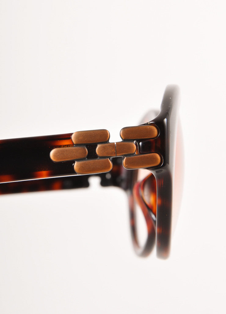 Brown Tortoise Shell Round Glasses