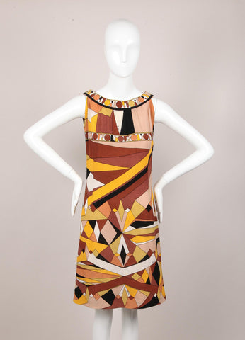 Abstract Pattern Sleeveless Cotton Dress
